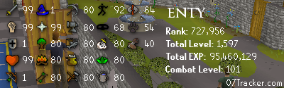 A SPECIAL SHOUT OUT TO ENTY Lumbridge
